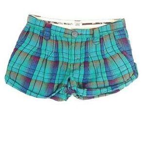 Free People Plaid Madras Shorts